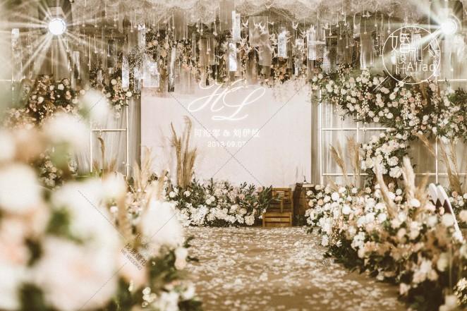 你的模样-白室内小清新婚礼照片