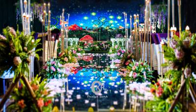 《萤火之森》粉色婚礼,绿色婚礼,黄色婚礼,室内婚礼,西式婚礼,梦幻婚礼,森系婚礼