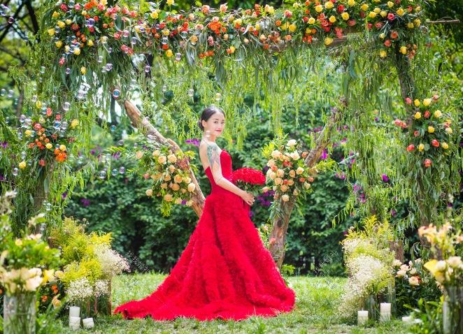 初夏-黄草坪小清新婚礼照片