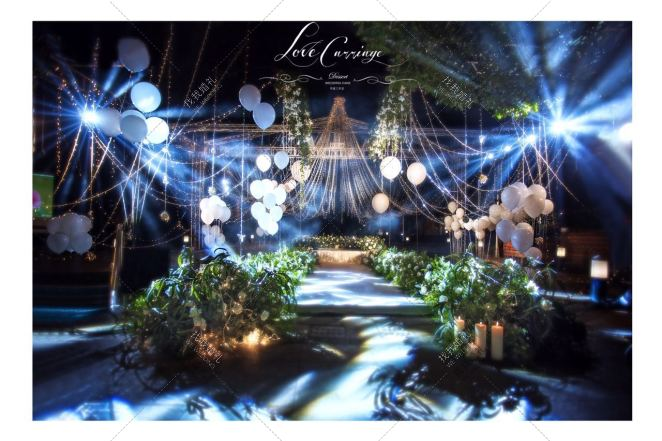 Encounter a beautiful Love-绿户外西式婚礼照片
