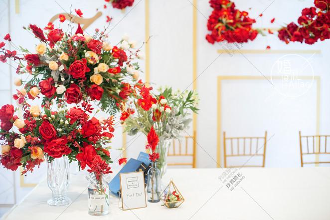 《yes,Ido!》-黄室内西式婚礼照片