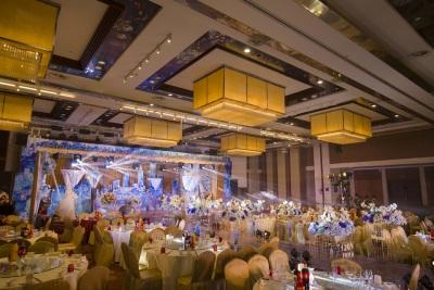 筑城黄色婚礼,青色婚礼,室内婚礼,西式婚礼