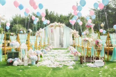 送给纠结的杰王子蓝色婚礼,户外婚礼,梦幻婚礼,小清新婚礼