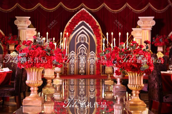 流年-黄室内西式婚礼照片