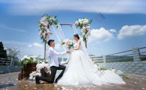 简阳市贾家半边山农家乐-云很淡风很轻婚礼图片