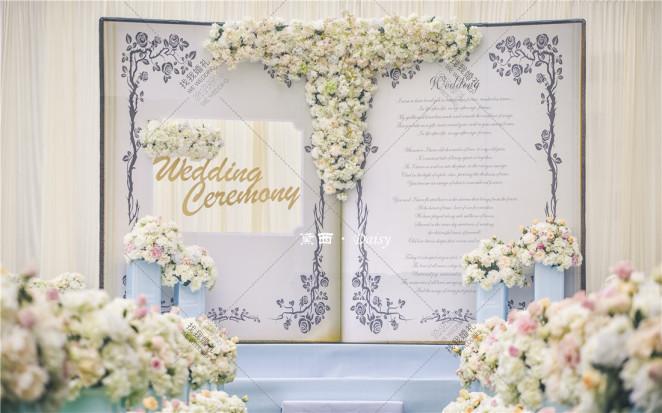 【花下美人娇·书中静待放】-白户外大气婚礼照片