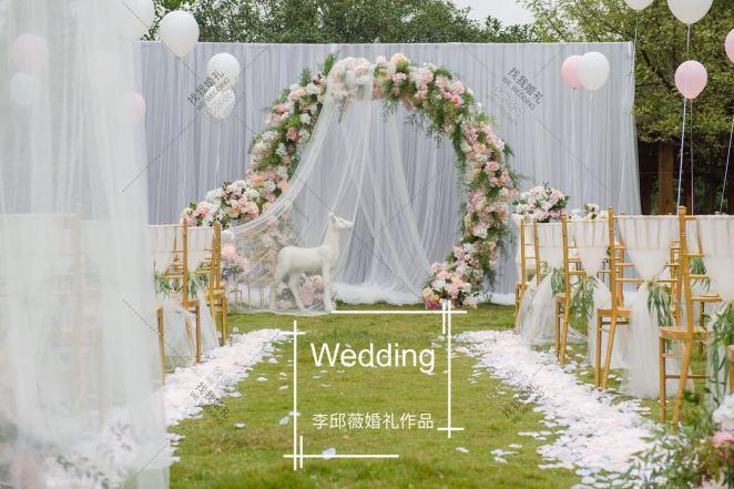 时光.本心-绿草坪西式婚礼照片
