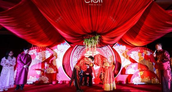 南瓜顶中式婚礼布置-婚礼策划图片