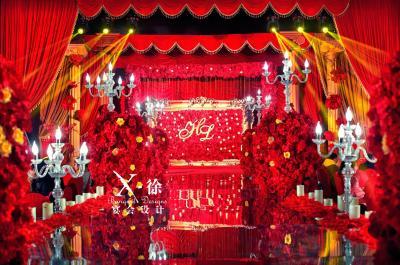 陪、伴黄色婚礼,红色婚礼,室内婚礼,大气婚礼,西式婚礼,复古婚礼