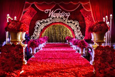 Matching柠檬黄色婚礼,红色婚礼,室内婚礼,大气婚礼,主题婚礼