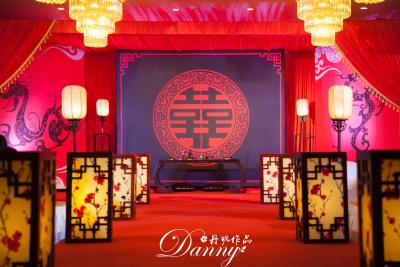 汉式情缘红色婚礼,黑色婚礼,室内婚礼,中国风婚礼,中式婚礼,主题婚礼