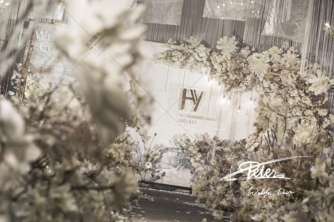 《Little Light》-黄室内韩式婚礼照片