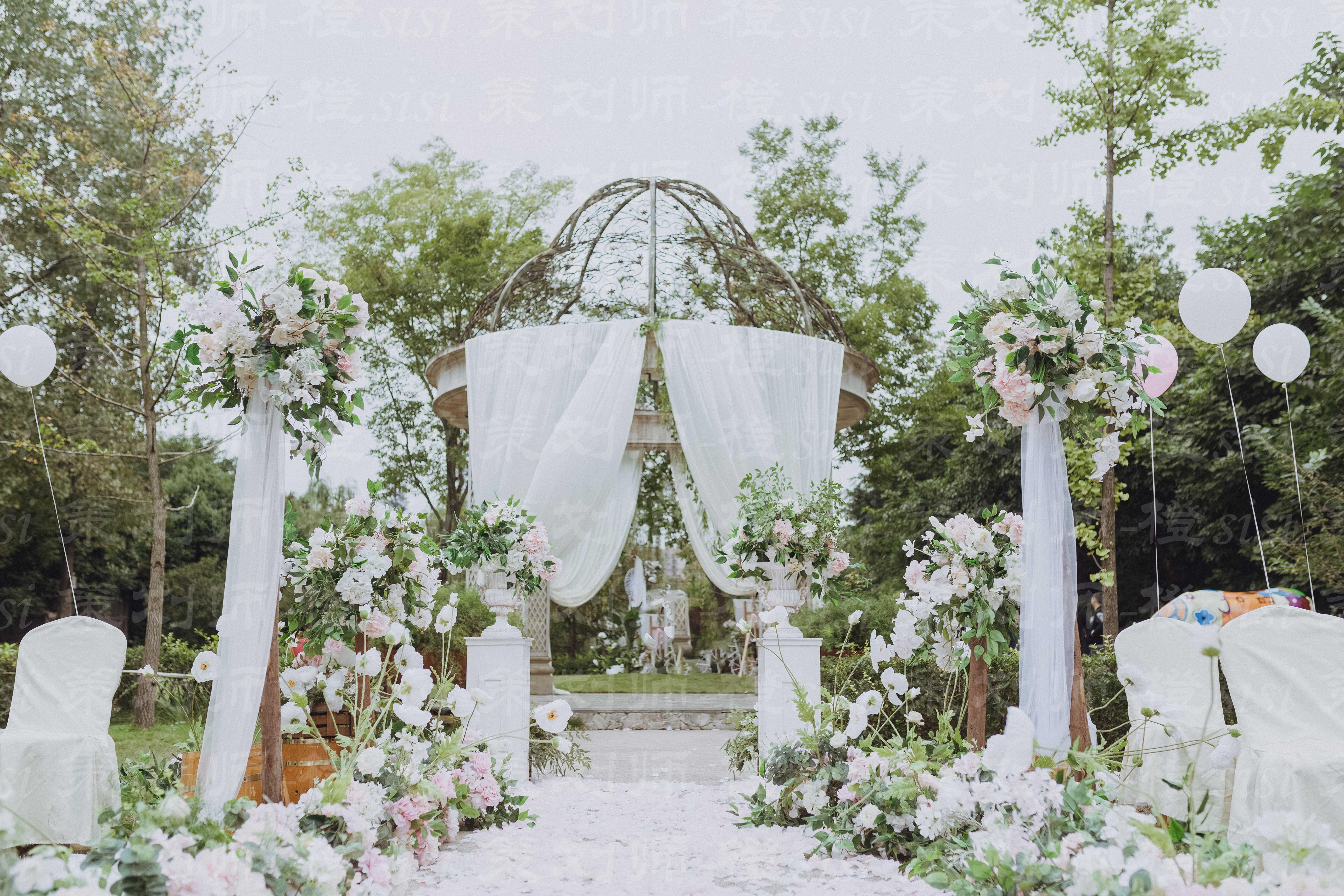 那个长发姑娘婚礼图片