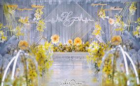 双山国际花园酒店-高级灰配柠檬黄婚礼图片