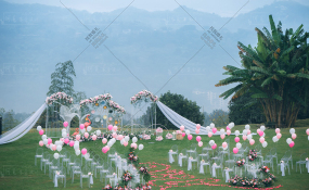 赖特与山户外 -雾朦胧婚礼图片