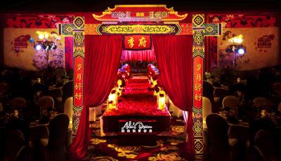鸾凤和鸣红色婚礼,室内婚礼,中国风婚礼,中式婚礼