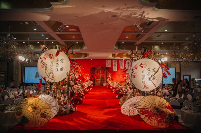 佳期-黄室内新中式婚礼照片