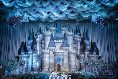 蓝色城堡白色婚礼,青色婚礼,室内婚礼,西式婚礼,主题婚礼,梦幻婚礼