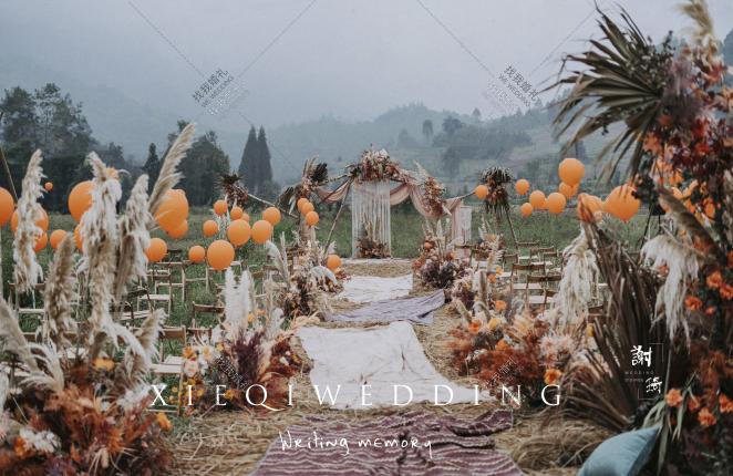 烟雨芦山-黑树林复古婚礼照片