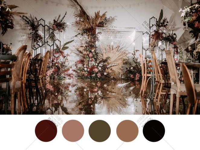 ENCOUNTER-绿室内简洁婚礼照片