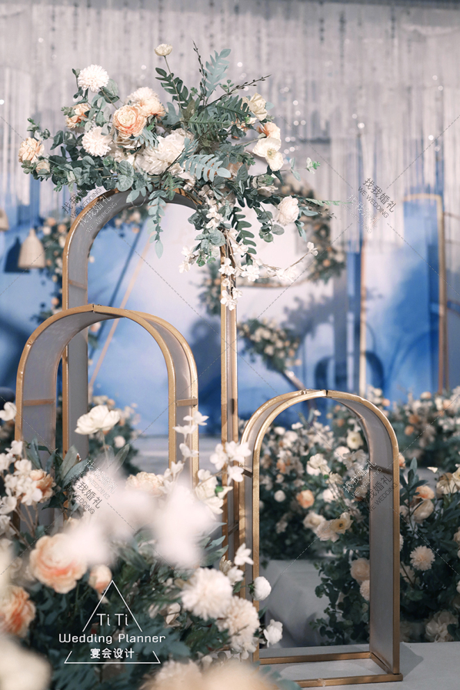 蓝·漾 -蓝室内大气婚礼照片