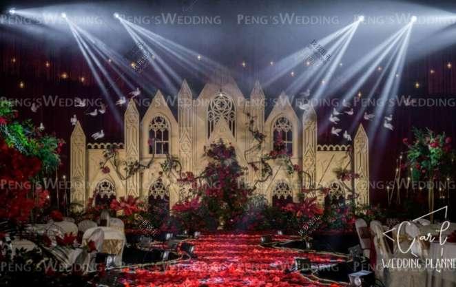 沐 光-红室内复古婚礼照片