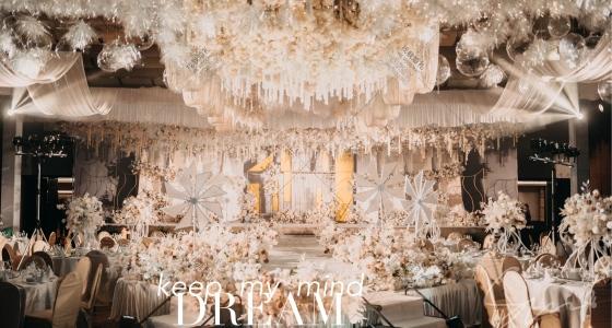 香槟色金色白色加入了透明材质的元素-婚礼策划图片