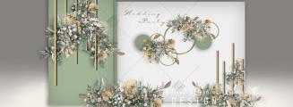 清新牛油果绿 泰式婚礼-白室内唯美婚礼照片