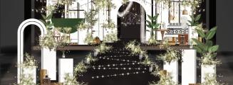 长风-绿室内森系婚礼照片