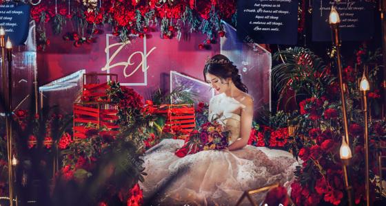暗夜降临,花开荼蘼-婚礼策划图片