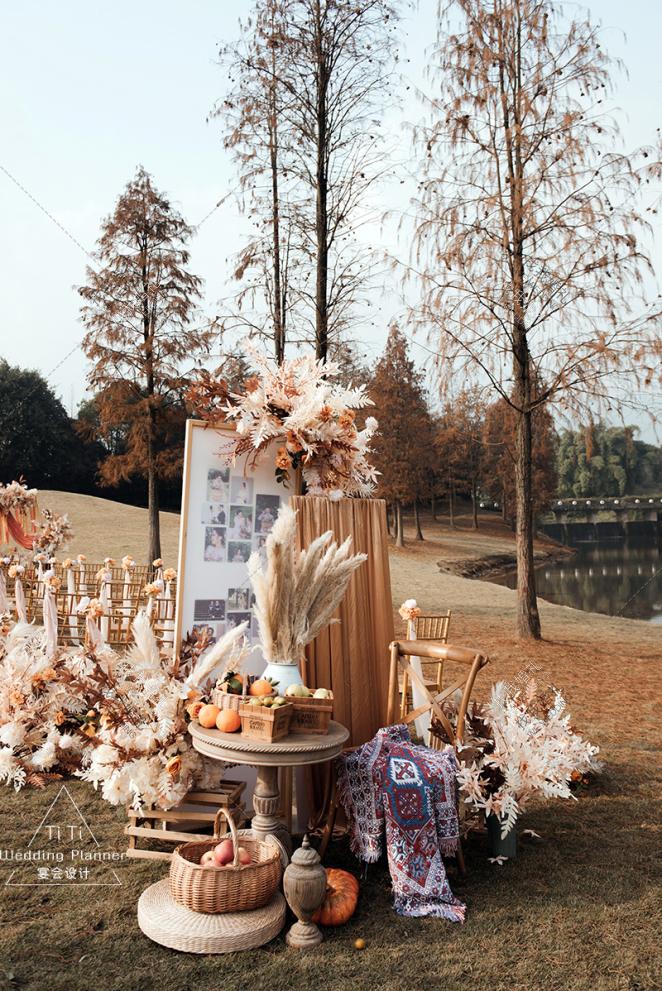 焦糖秋色婚礼<秋日暖阳>-黄户外西式婚礼照片