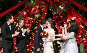 明宇豪雅饭店(科华南路店)-金秋户外婚礼婚礼图片