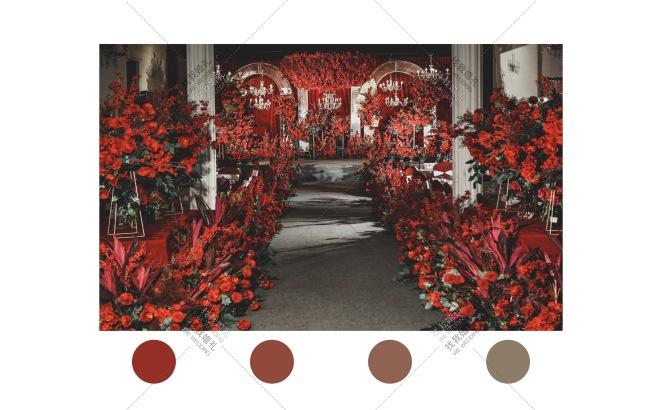Red Rose-黄室内大气婚礼照片