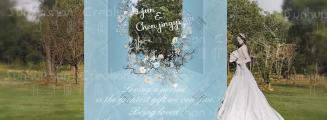 熊熊和兔兔-白户外西式婚礼照片