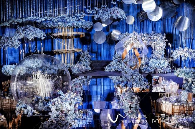 羽爱.翩跹-灰室内西式婚礼照片