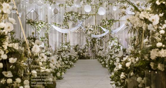 《白绿雾霾蓝》-婚礼策划图片