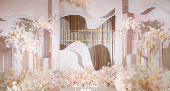 粉色系婚礼 | 蜜意-婚礼策划图片