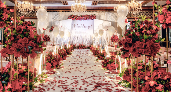 刘家花园红色婚礼-婚礼策划图片