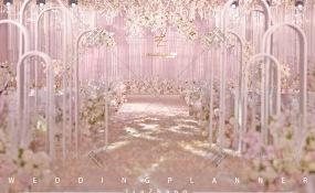 成都世纪城天堂洲际大饭店-粉色花园婚礼图片