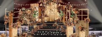 特别-橙黄室内森系婚礼照片