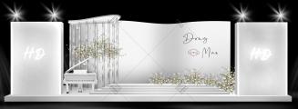 秀场风 —「accompany」-白室内韩式婚礼照片