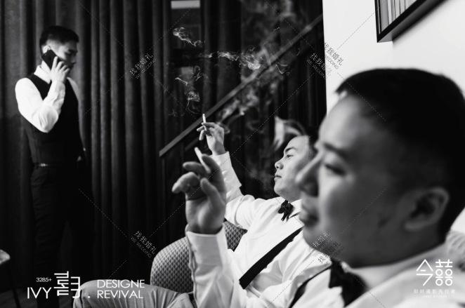 月.时-灰室内传统中式婚礼照片