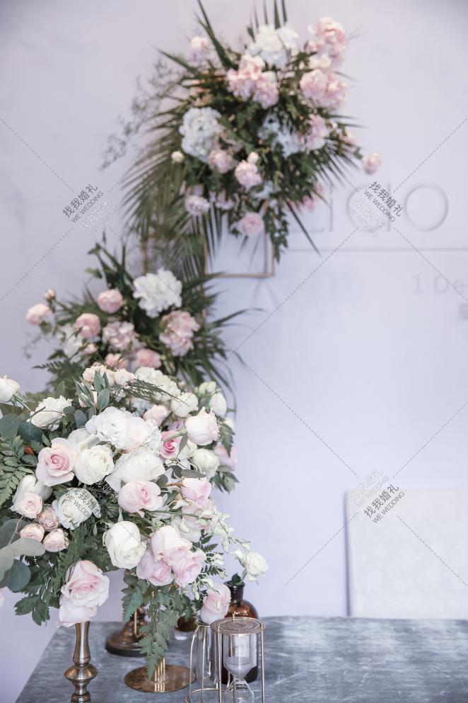 室内绿色小清新婚礼案例效果图