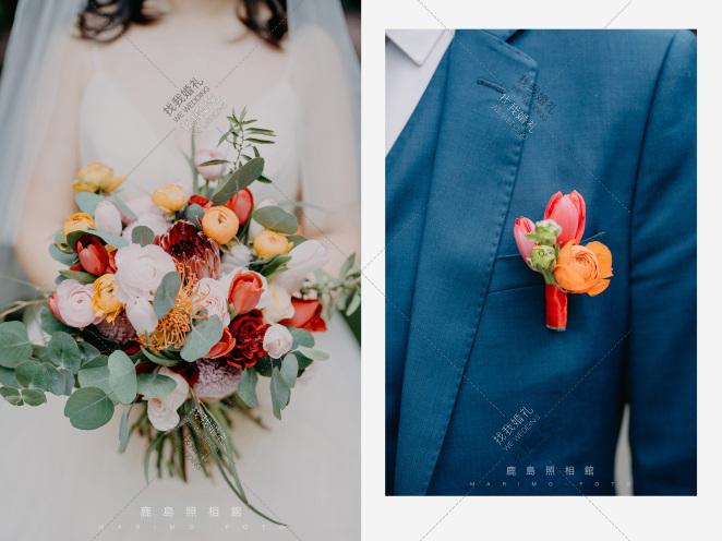 《秋色焦糖》-红室内森系婚礼照片