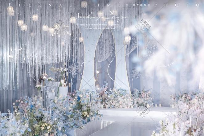 樱の青空-粉室内简洁婚礼照片