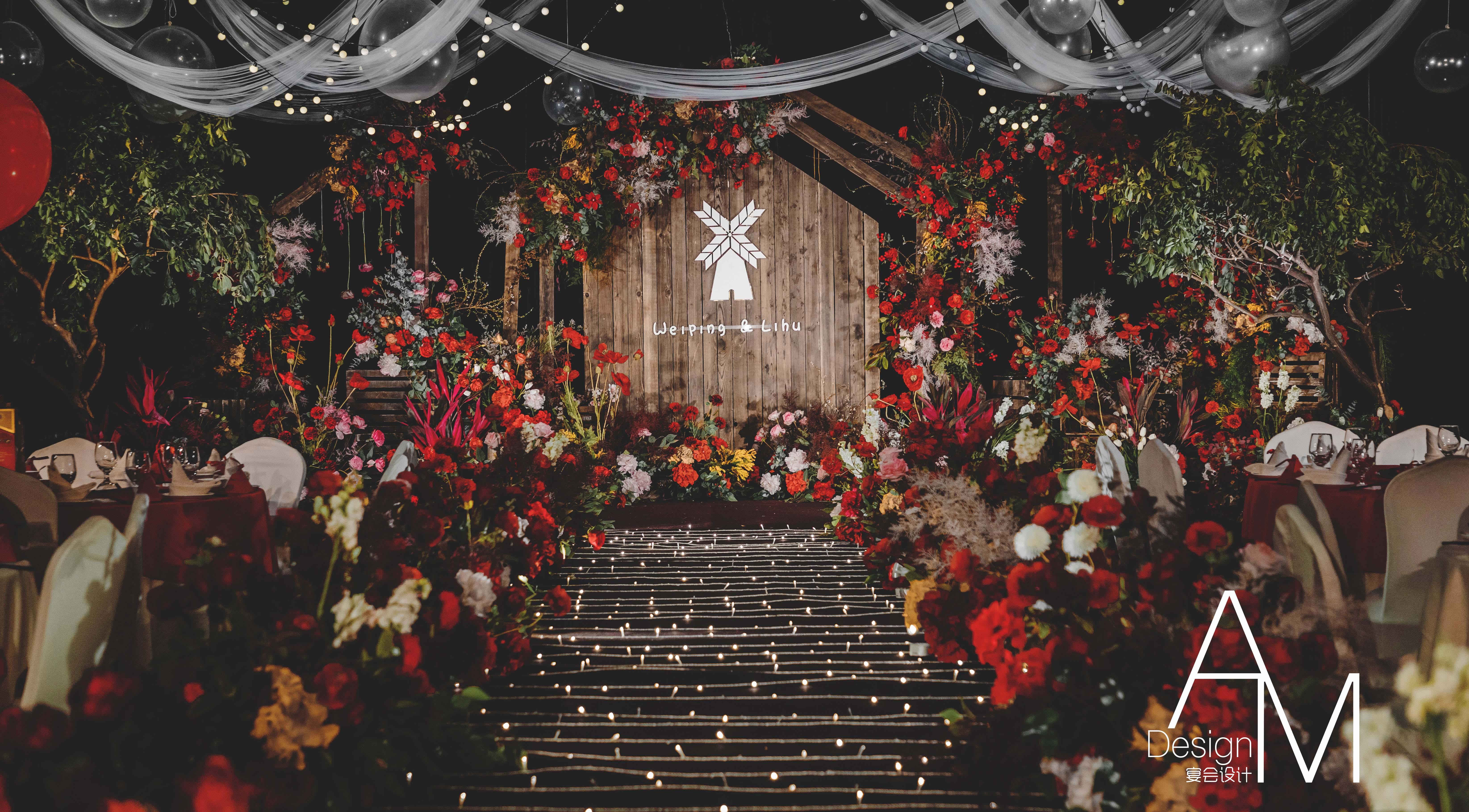 温柔的微风婚礼图片