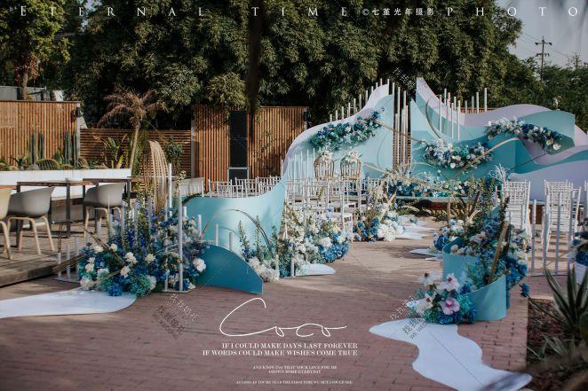 【sea wave】-蓝户外唯美婚礼照片
