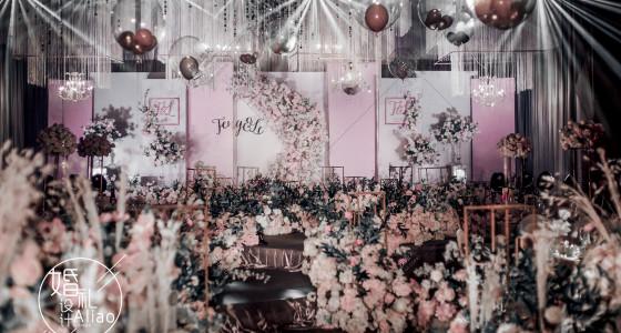 高级灰与甜蜜粉-婚礼策划图片