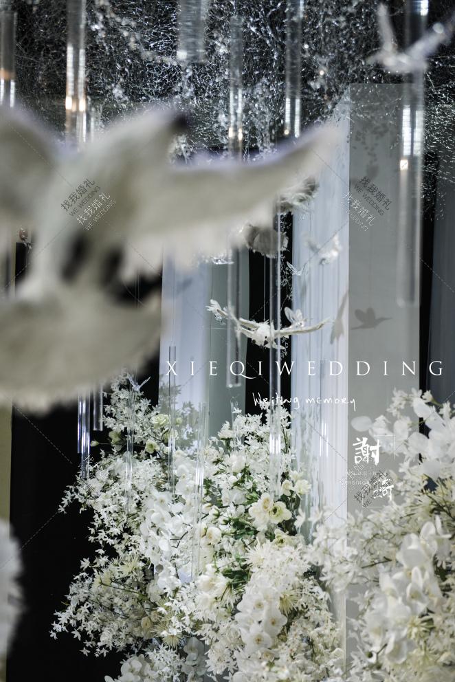 素锦-白室内西式婚礼照片
