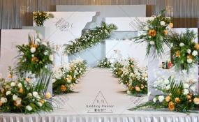 重庆国贸格兰维大酒店-简约韩式婚礼---牛油果绿婚礼图片